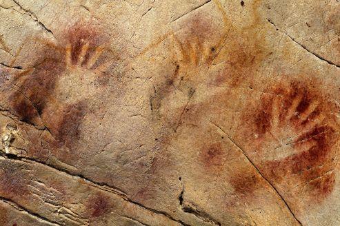 Peintures rupestres, mains